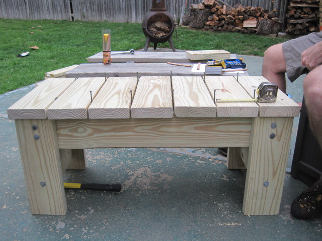 DIY Patio Bench
