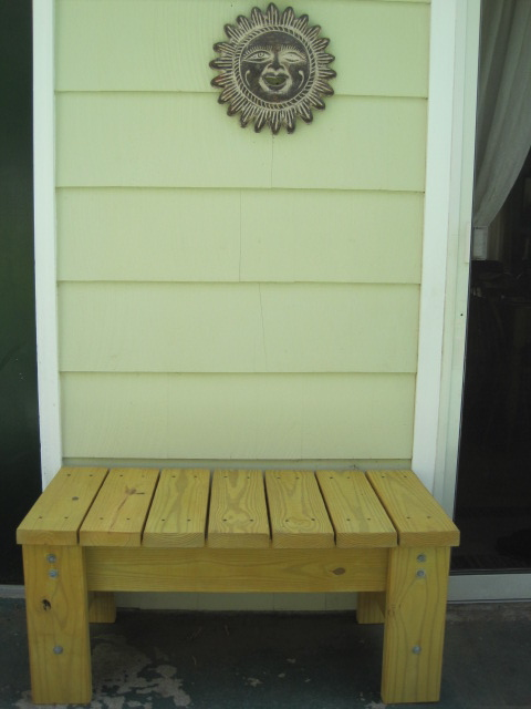 diy furniture my husband s homemade patio bench two