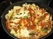 homemade soup in progress