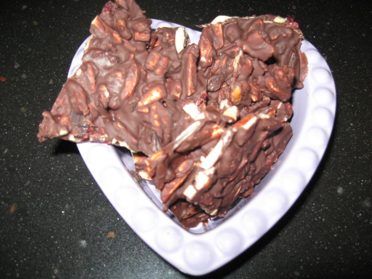 "Frugal, Healthy & Delicious Recipe: Homemade Dark Chocolate Candy ""Bark"""