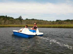 peddle boating in Cape Cod