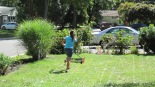 Our daughter mowed the front and backyard last week!  Yay!