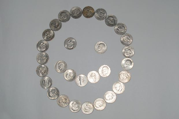 smiling coins
