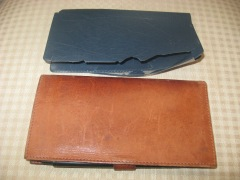 old checkbook cover, new checkbook cover