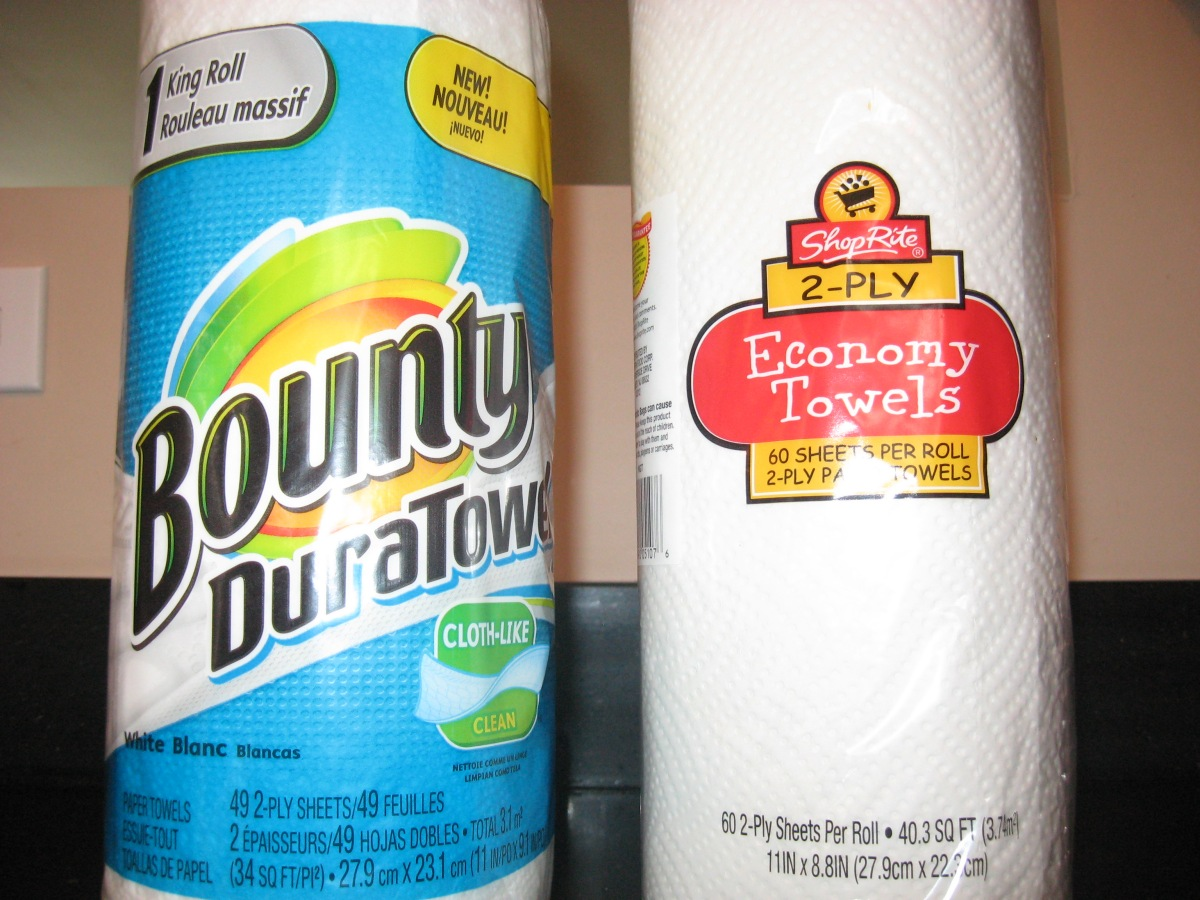 bounty paper towels vs generic paper towels  is the
