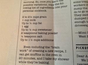 Amy D. basic muffin formula