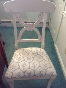 One finished version of chair in my office.