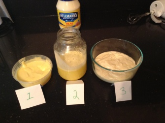 making diy mayo
