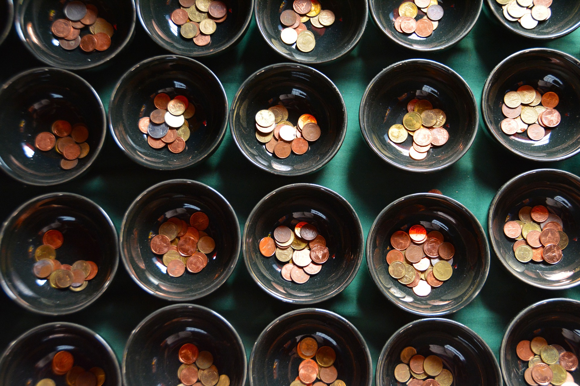 pennies in bowl