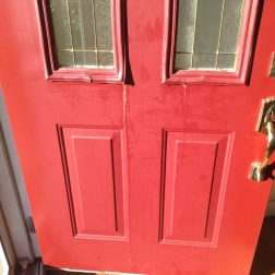 There is so much sun on our house all day that it has melted our fiberglass door and the glue.